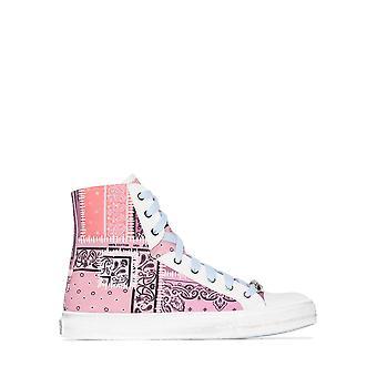 Amiri Y0f22498ccsal Men's Pink Cotton Hi Top Sneakers