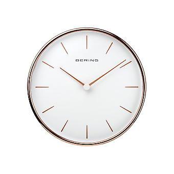 Bering wall clock quartz 162mm rose gold glossy 90162-64R