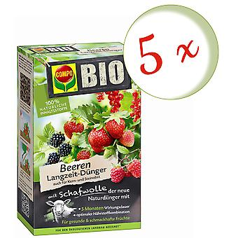 Sparset: 5 x COMPO ORGANIC berries long-term fertilizer with sheep wool, 750 g
