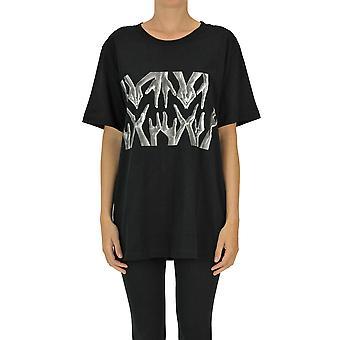 Mm6 Maison Margiela Ezgl038119 Women's Black Cotton T-shirt