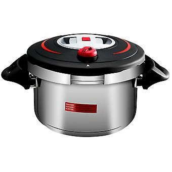 Sliver 6L Multi Function Pressure Cooker Stainless Steel Double Hand Cookware