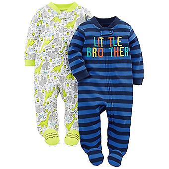 Simple Joys by Carter's Baby Boys' 2-Pack Cotton Footed Sleep and Play, Littl...