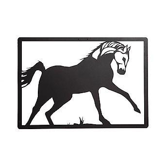 49x0.15x34 cm Stahl Pferd Farbe Wanddekoration