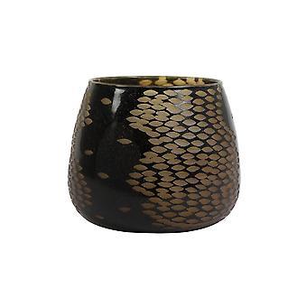Light & Living Vase Deco 25.5x23cm Westel Glass Brown
