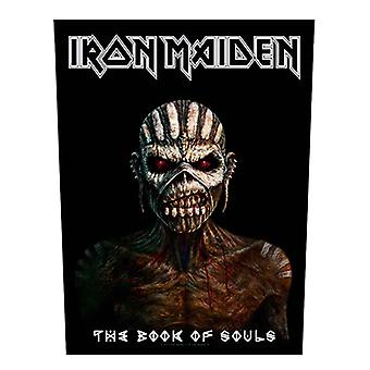 Iron Maiden Back Patch Book of Souls Logo Official New Black Woven (36cmx29cm)