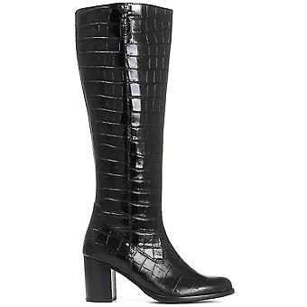 Gabor Womens Lettie Polished Leather Knee Boot