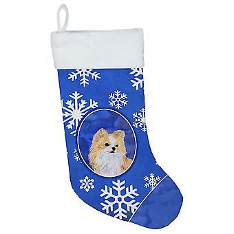 Carolineøerne skatte SS4611-CS Chihuahua vinter snefnug Christmas strømpe SS