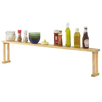 SoBuy KCR01-N, Rubber Wood Storage Shelf Kitchen Spice Rack Flower Stand Shelf Countertop Shelf