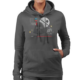 Star Wars Dark Lord Darth Vader Women's Hooded Sweatshirt