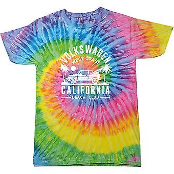 Volkswagen West Coast California Black Text Women's Tie Dye T-Shirt