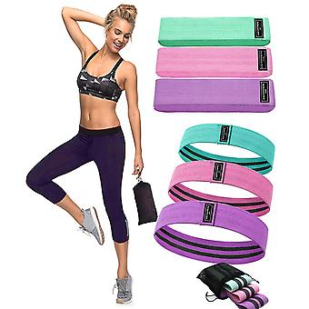 3PC/SET Non Slip Booty Fabric Glutes Hip Circle Legs Squat Yoga Resistance Bands
