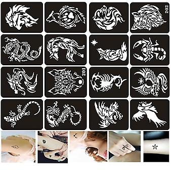 Stencils Of Wolf ,dragon, Tiger, Eagle Designs-airbrush Stencils For Painting