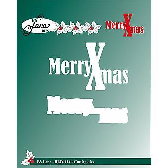 By Lene Cutting & Embossing Dies Merry Xmas
