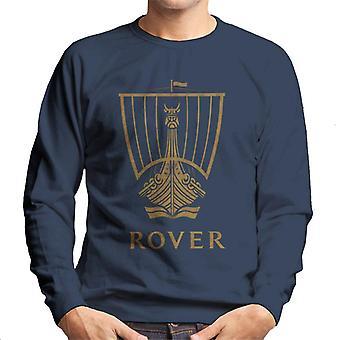 Rover Logo Gold Longship British Motor Heritage Men's Sweatshirt