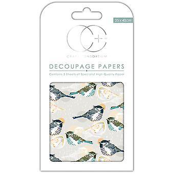 Craft Consortium Fenton Decoupage Papers