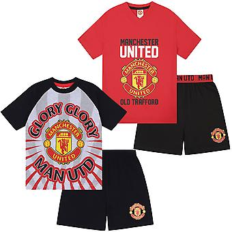 Manchester United FC Official Football Gift Boys Korte Pyjama