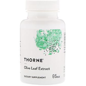 Thorne Research, Olive Leaf Extract, 60 Capsules