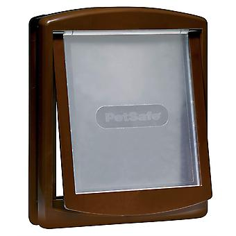 Staywell Large Dog Door + Lock Panel - Brown