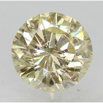 Cert 1.01 قيراط قيراط الهوى الأصفر VVS2 جولة رائعة المحسنة الماس الطبيعي 6.2mm