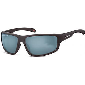 Sunglasses Unisex Cat.3 matt black/turquoise (SP313B)