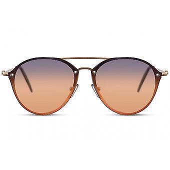 Sunglasses Unisex Pilot Fully Framed Cat. 3 gold/gold