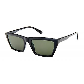 Sunglasses Unisex black with green lens (19-010)