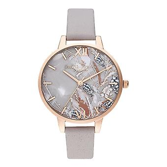 Olivia Burton Watches Ob16vm37 Demi Abstract Florals Grey Lilac & Pale Rose Gold Watch