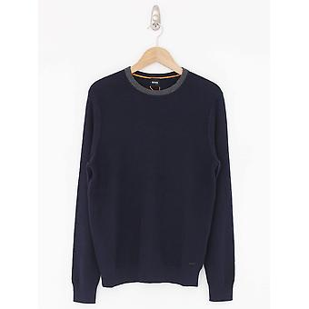 BOSS Casual Ayakop Knit - Dark Blue