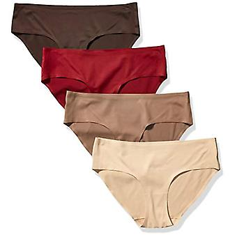Essentials Women's Standard 4-Pack Seamless Bonded Stretch Hipster Pan...