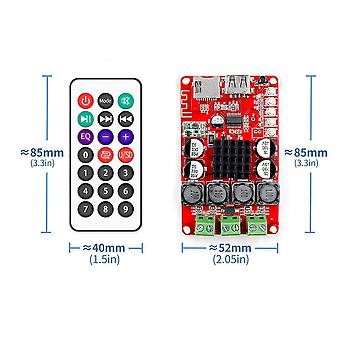 Bluetooth Receiver Amplifier Audio Board Digital U Disk Decoding With Remote