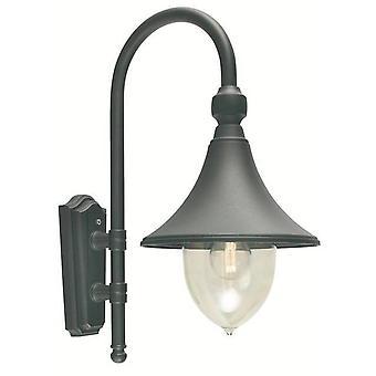 Elstead - 1 luz al aire libre domo pared linterna luz negro IP54, E27
