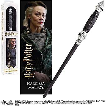Noble Collection PVC Narcissa Malfoy Baguette magique & Ensemble de signets