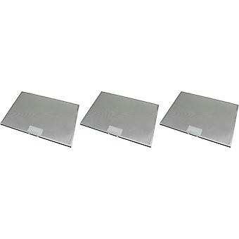 3 x Universal Cooker Hood Metal Grease Filter 425mm x 310mm