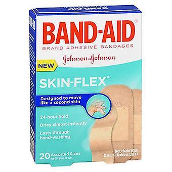 Aveeno Band-Aid Skin-Flex Bandages Assorted Sizes, 20 Each