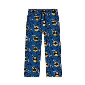 Men's DC Comics Batman Classic Suit Print Blue Lounge Pants