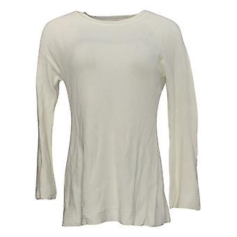 Isaac Mizrahi Live! Women's Sweater Peplum w/ Bell Sleeves Ivory A311368