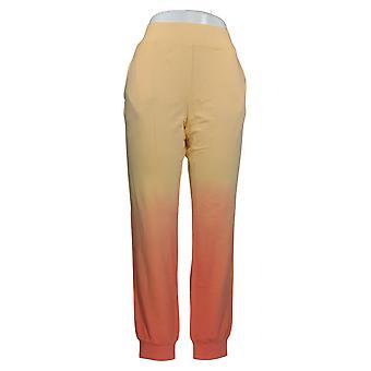 G by Giuliana Women's Pants Dip Dye Pull On Jogger Orange 706-852