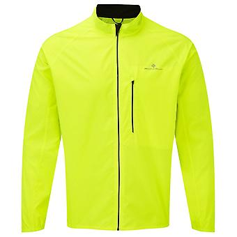 Ronhill Core Mens Breathable Wind Resistant & Water Resistant Running Jacket Fluo Yellow