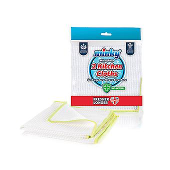 Minky Anti-Bacterial Long Lasting Kitchen Cloth x 2 TT79001200