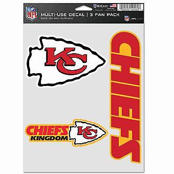 NFL ملصقة مجموعة متعددة من 3 20x15cm -- رؤساء مدينة كانساس