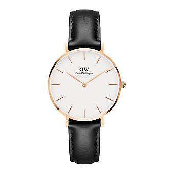 Daniel Wellington DW00100174 Classic Sheffield Petite Black Strap Wristwatch