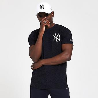 New Era Mlb New York Yankees All Over Print Black T-shirt