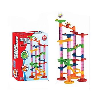 Marble Race Run Duplo Building Block Ball Toy Track Set Plastic
