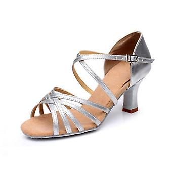 Satin Salsa Latin Dance Shoe Tango Ballroom Dance Shoe High Heel Soft Sandals