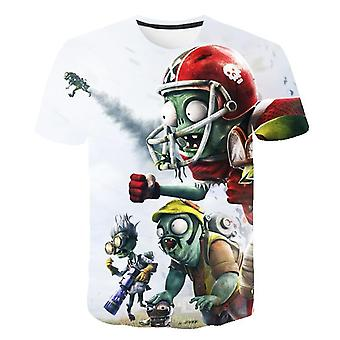 Plants Vs Zombies Cartoon Summer T-shirt, 3d Printed Casual Clothes
