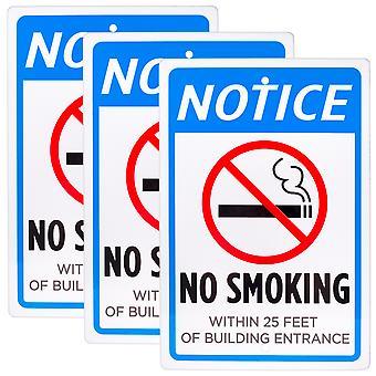 Kein Rauchen innerhalb von 25 Fuß des Eingangsschilds