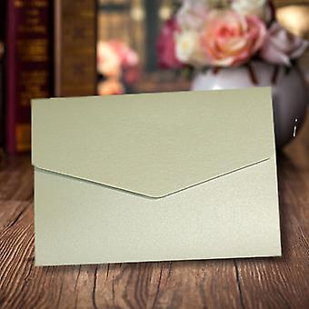 A6 DIY Pocketfold Invitations Pearlescent Silver Pack de 10
