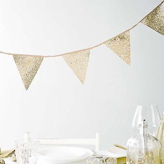 Luxury Gold Glitter Bunting - Wedding Christmas Décor 3m