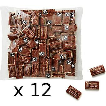 Divine Fairtrade Minis Milk Bars 4.2g (100's) x12