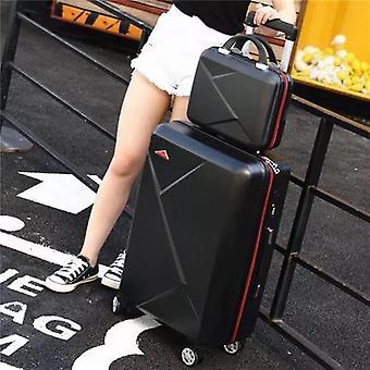Mala de viagem de bagagem rolando com rodas spinner trolley caso